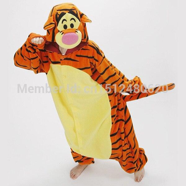 7aee0623428fe Pyjamas animaux mignons pour adultes Pyjamas tigrou à capuche animaux tigre  Pyjamas Pijama unisexe vêtements de nuit dans Costumes animés pour hommes  de ...