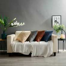 ISHOWTIENDA Imitation Leather Sofa Cushion Cover Solid Color Pillow Case  Sofa Cover Dakimakura Decorative Pillows Cover