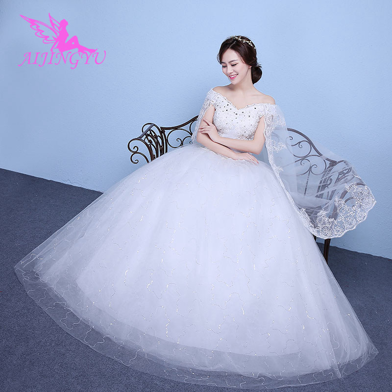 AIJINGYU Dresses Sweet Party Long Simple Wedding Dress WK653