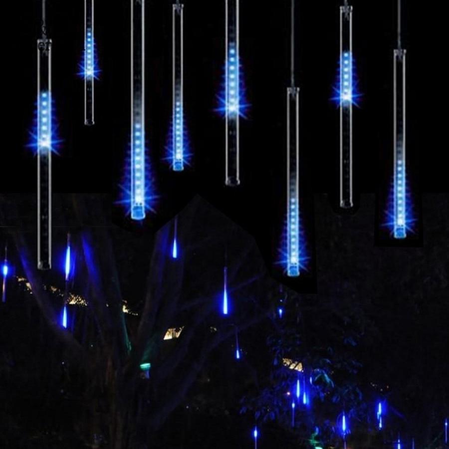 Zoyabell 30 cm Cascata Di Natale Fata Luce LED della Pioggia della Meteora Ghirlanda Coperta Impermeabile Giardino di Casa Vacanza Decorazione Esterna