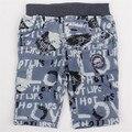 2015 2015 Nova дети новый стиль лето хлопок мальчиков scanties с буквы напечатаны прекрасный бледно-синий цвет шорты мальчик детская одежда мальчики носить