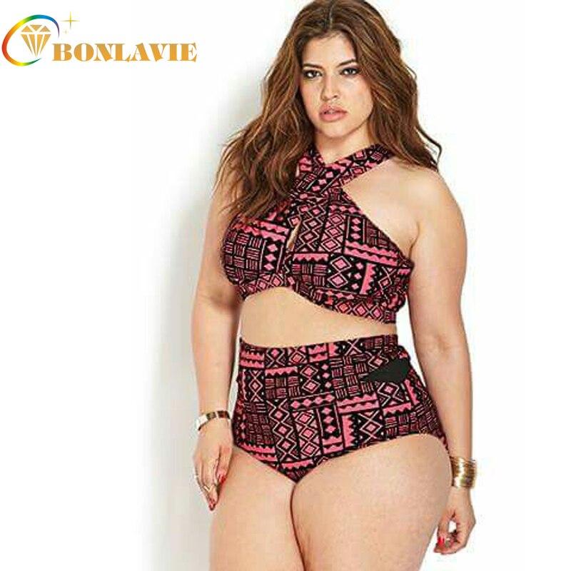 Girls Sexy Bikini Sets Plus Size Ladies Beachwear Bandage -8107