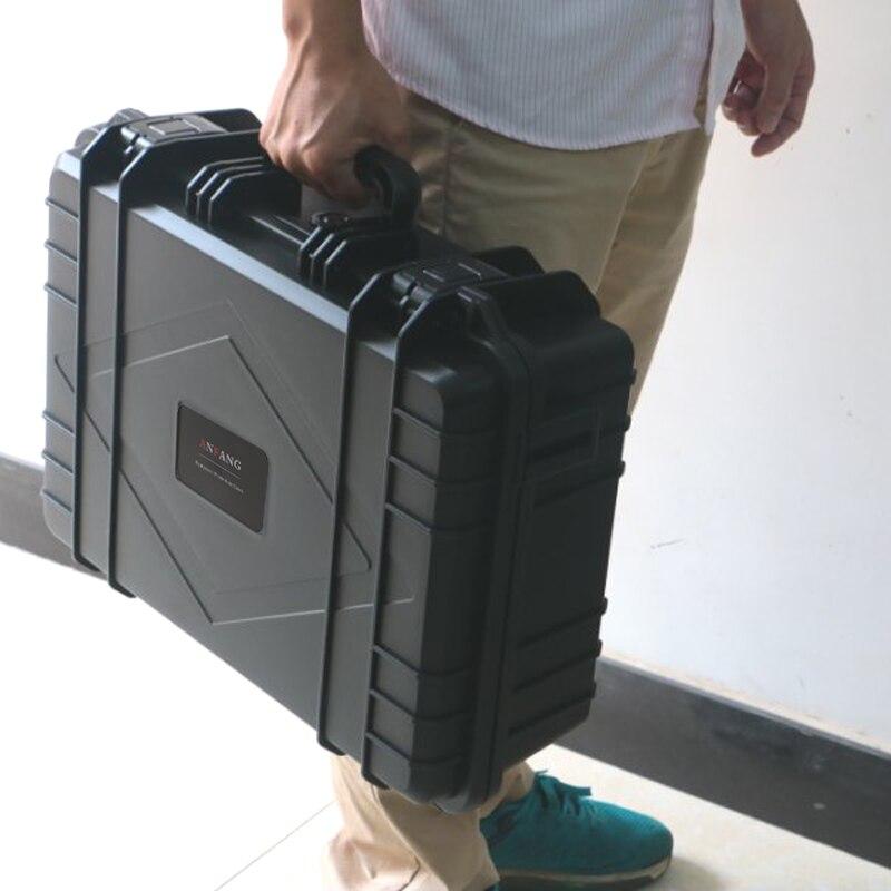 Abs plástico selado caixa de ferramentas de segurança equipamentos mala ferramentas resistente ao impacto caso à prova choque w espuma logotipo quatro cores