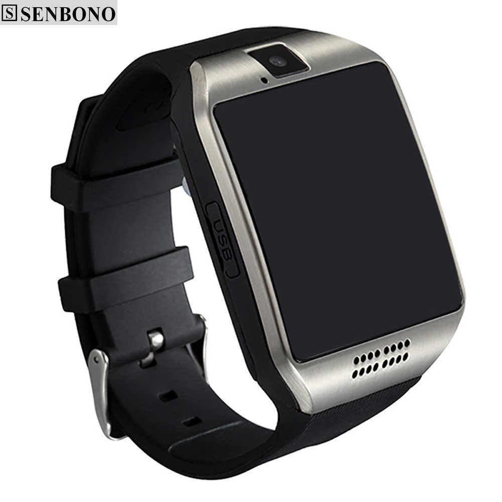 משלוח חינם SENBONO SBN-Q18 מסך מגע חכם שעון תמיכה אנטי אבוד Bluetooth הודעה פדומטר עבור אנדרואיד טלפון
