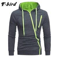 T Bird Brand Hoodies Men 2017 Male Long Sleeve Hoodie Features Zipper Sweatshirt Mens Moletom Masculino