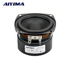 AIYIMA 1 шт. сабвуфер 3 дюйма 25 Вт HiFi сабвуфер динамик 4 8 Ом сабвуфер аудио звук динамик s бас громкий динамик квадратный DIY
