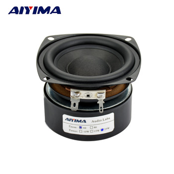 AIYIMA 1Pcs Subwoofer 3 Inch 25W HiFi Subwoofer Speaker 4 8 Ohm Woofer Audio Sound Speakers Bass Loudspeaker Square DIY 2 pcs 35mm 75mm audio speaker woofer loudspeaker dome pp dust cap cone cover