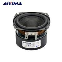 3 Inch 25W Hi Fi Subwoofer Speaker Audio Bass Loudspeaker 4ohm 8ohm Square