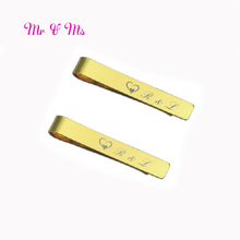 Hot custom tie clip 50pcs Classic Men Tie Pin in gold silver and black color you can with any logo text on the clips