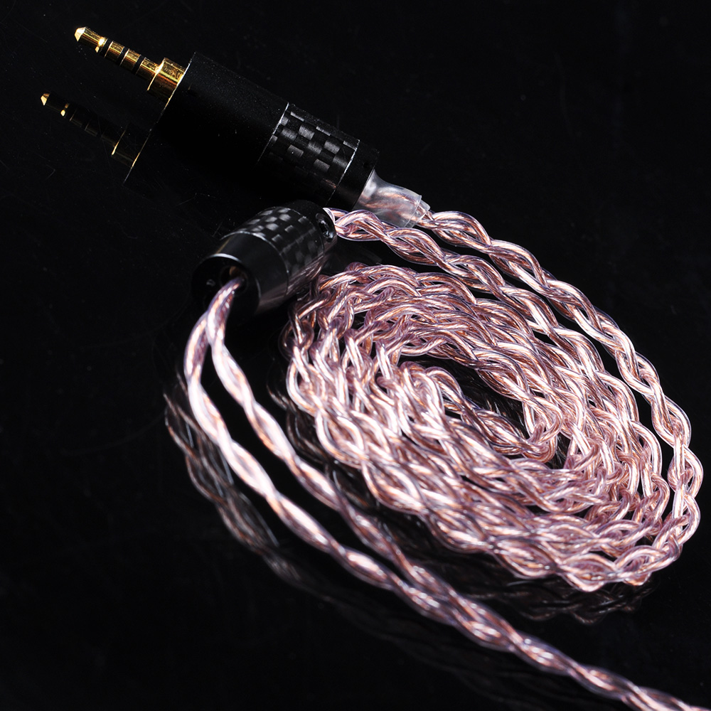 UPOCC aolizi 28AW 7N Single Crystal Copper Silver Plated Cable 2.5/3.5/4.4mm Balanced Cable With MMCX Connector For HQ10 HQ8