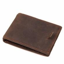 J.M.D 100% Genuine Crazy Horse Leather Mens fashion Card Holder Dollars Cash Purse R-8143R