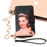 Audrey Hepburn Printed Multi function PU Leather Zipper Bag Wallet Case For iPhone X Xr Xs Max 7 8 Plus Women Hangbag Flip Cover