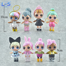8Pcs/Set 9-10CM The Latest Hot Kawaii LOL DOLL Decoration Pvc Baby Doll Anime Action Figure Kids Toys Best Gifts
