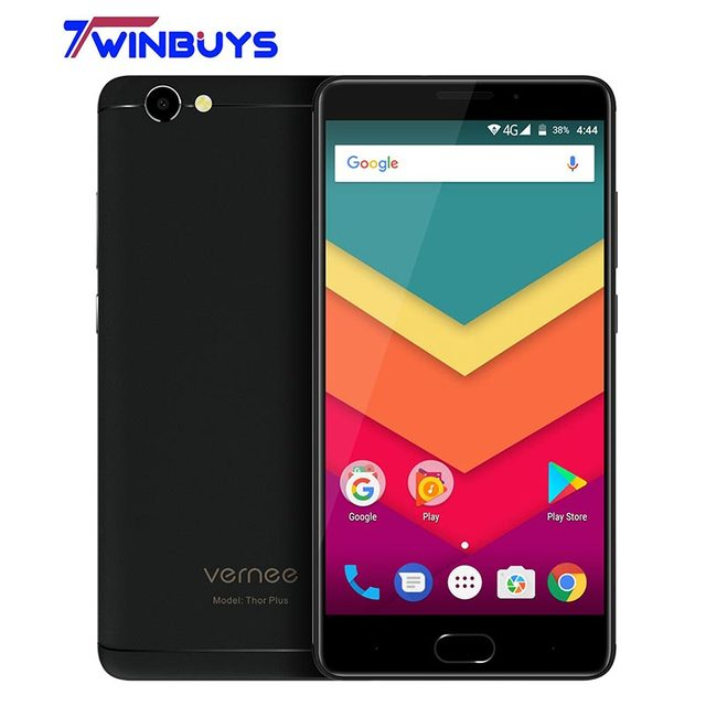 "vernee Thor Plus Fingerprint 6200mAh 4G Smartphone MTK6753 5.5""HD Android 7.0 3GB RAM+32GB ROM 8MP+13MP Cellphone"
