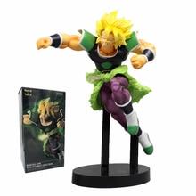 Película Dragon Ball Z de 21cm, Super Broli Gold, Super Saiyan Broly Ver. Figura de acción de PVC, modelo de lucha DBZ Vegeta