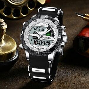 Image 5 - العلامة التجارية الجديدة الفاخرة Led ساعة كوارتز رجالية رقمية الجيش العسكرية الرجال الساعات الرياضية ساعة الذكور Relogio Masculino Reloj Hombre