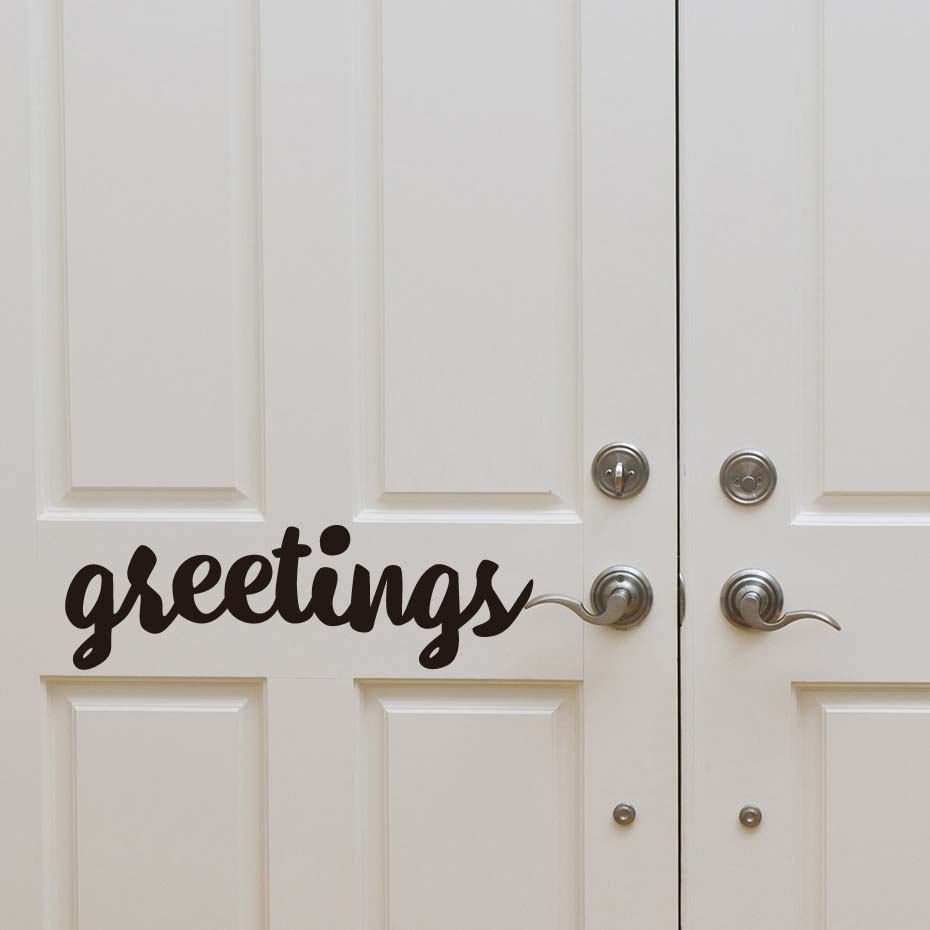 Greeting English Words Door Wall Decals Welcome Friends Wall