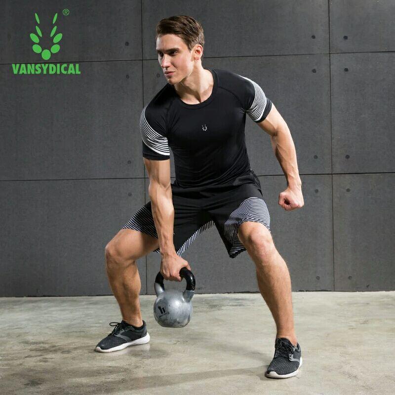 Hommes Sport costumes séchage rapide basket-ball Tennies entraînement survêtements Fitness Gym vêtements ensembles de course