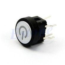 Мощность Символ Мгновенный Фиксации Случай Компьютера Выключатель Кнопочный Синий Свет Led-Y103