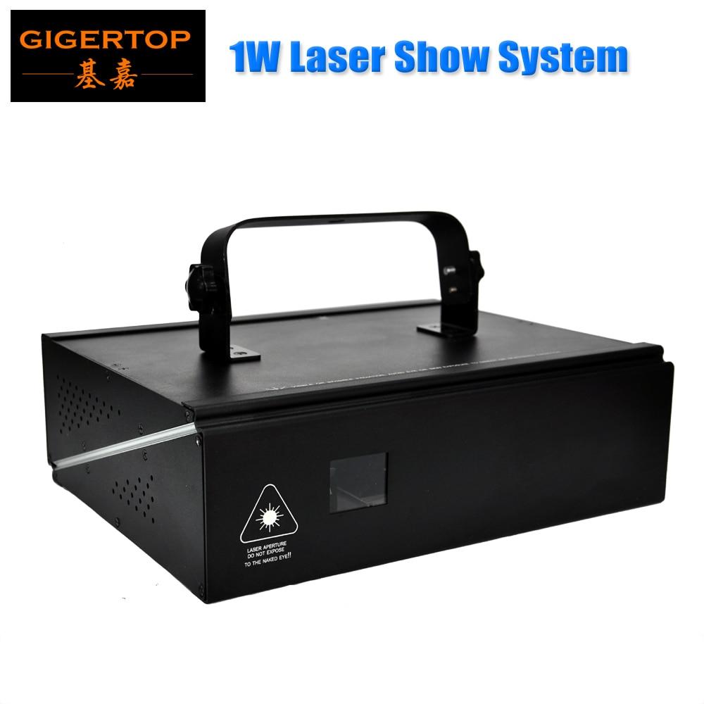 Freeshipping 1W RGB Full Color Stage Laser Light Professional Club Dancing Laser Light 3 Pin XLR Socket ILDA Computer Control