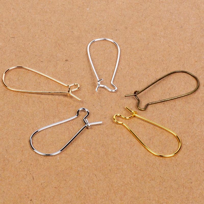 Wholesale Lots 100PCS Earring Hook Coil Ear Wire For Jewelry Making Findings