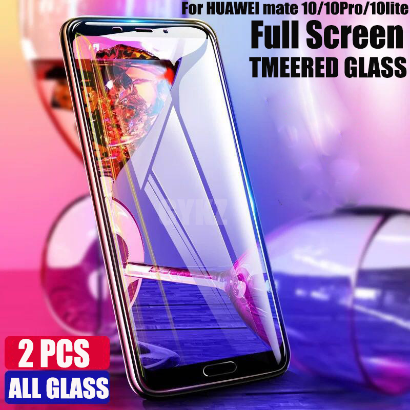 GYKZ NEW 9H Full Screen Cover Glass For Huawei Mate 10 Pro Protective Film Anti Blu Ray Glass For Huawei Mate 10 Lite Glass Film