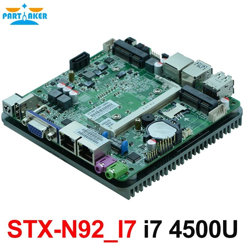 Fanless Dual Nics Nano Motherboard With Intel Haswell-U i7 4500U CPU цена