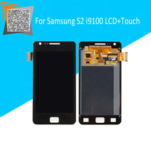 100% Tested Original For Samsung Galaxy S2 i9100 LCD Display Touch Screen Assembly Black/White Replacement Parts