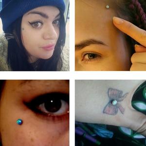 1 шт., титановая татуировка, кожный анкер, Топики, микро кожная головка, пирсинг поверхности, фианит, драгоценный камень, кожный анкер, украшения для тела