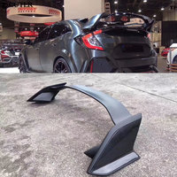 Car body kit TYPE R style Carbon fiber FRP rear bumper diffuser rear spoiler wing for Honda Civic 10TH 16 17