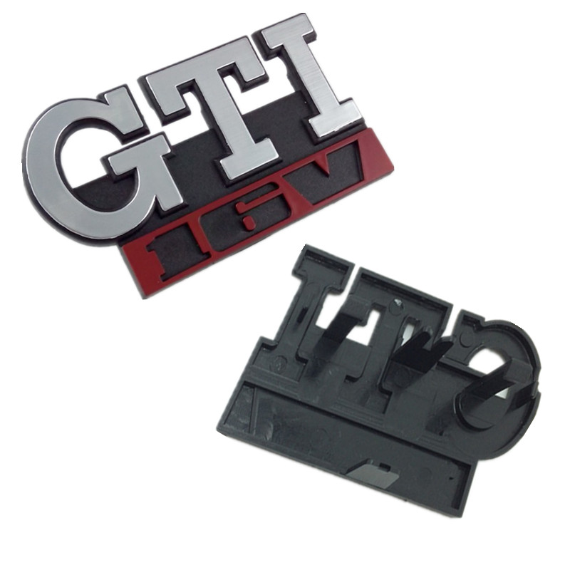5pcs Car ABS  GTI 16V Front Grille Grill Badge Emblem Fit For VW GOLF MK2 MK1  16V Car Styling Accessories wholesale price new abs chrome 3d 85mm red growler front grill grille emblem badge roundel fit for jaguar xf