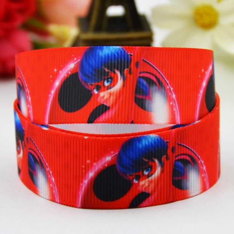 7/8 »(22 мм) lady Bug с героями мультфильмов Grosgrain ленты вечерние украшения, атласные ленты x-01419 OEM 10 метров