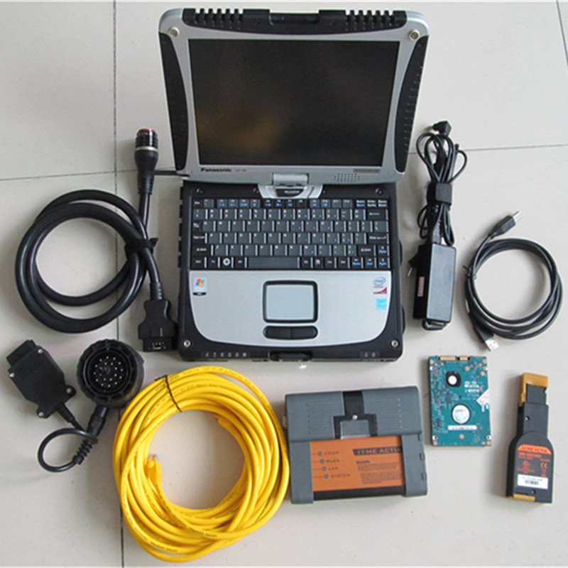 for bmw icom a2 with laptop touch screen 4g cf-19 hdd software ready to use win7 2018 best