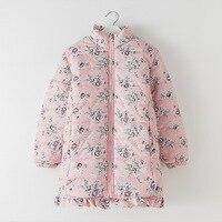 ハグミー子供服アウターコート花冬のジャケット女の子ジッパー子供ダウンジャケット冬のジャケットの女の子暖か