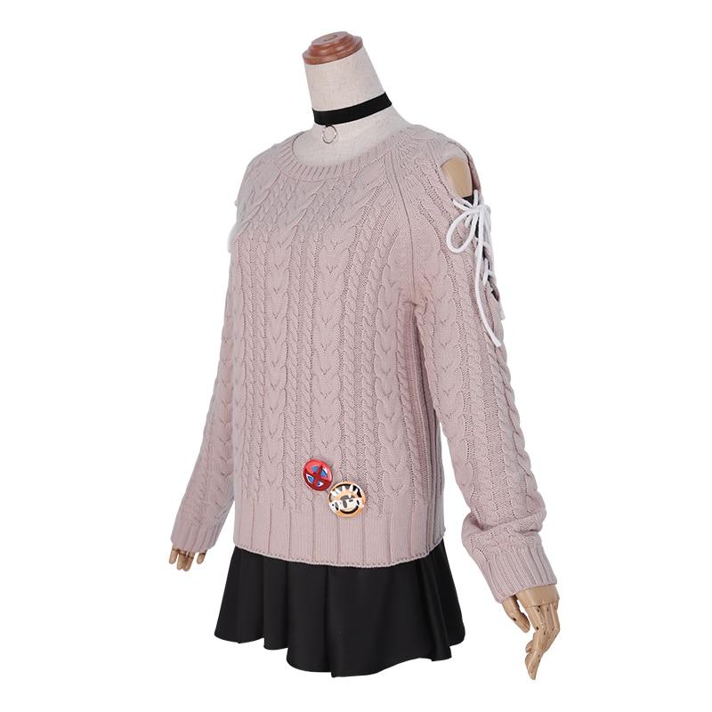Anime Azur Lane amiral Graf Spee Cosplay Costume belle uniforme Cosplay pull jupe hiver ensemble quotidien tenue pour les femmes