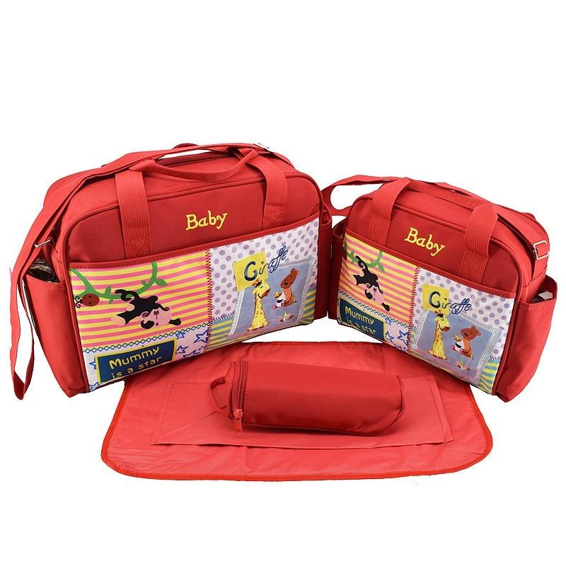 MOTOHOOD 4pcs Baby Diaper Bag Sets For Mom Cute Animal Baby Stroller Bag Organizer Fashion Maternity Bags Handbags For Moms (1)