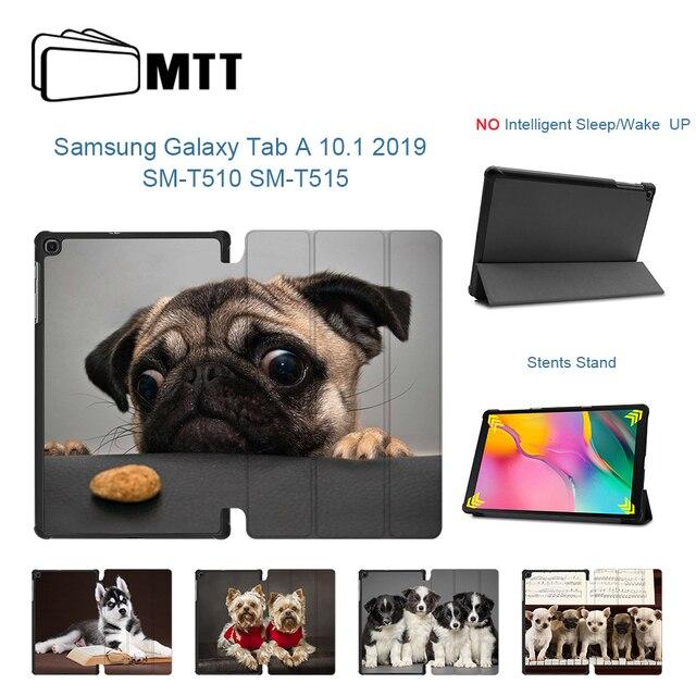 Чехол MTT для Samsung Galaxy Tab A, 10,1 дюйма, SM-T510, T515, 2019, тонкий чехол из искусственной кожи с откидной магнитной подставкой, чехол для планшета с милой ...