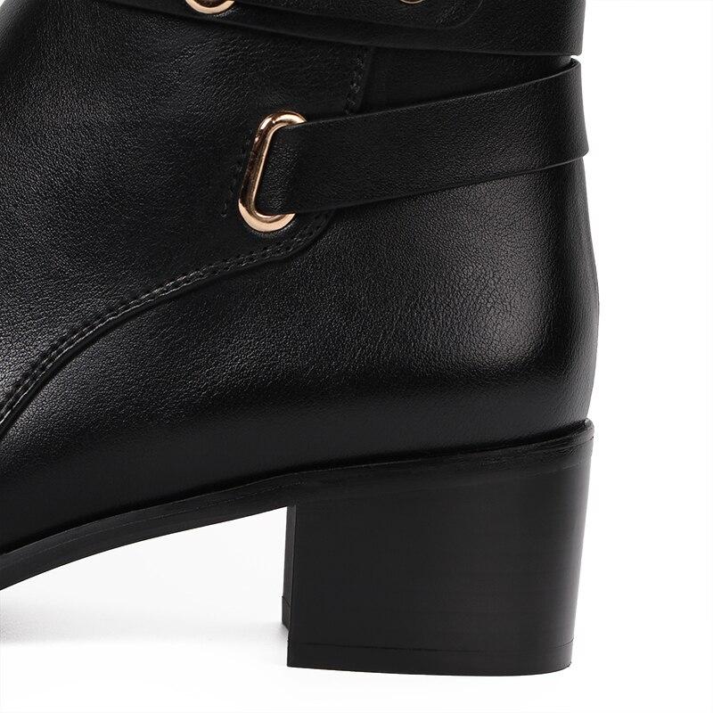 AIMEIGAO New 2017 Winter High Boots Round Toe knee High Boots Zipper Boots Winter Shoes For Women zapatos de mujer de moda