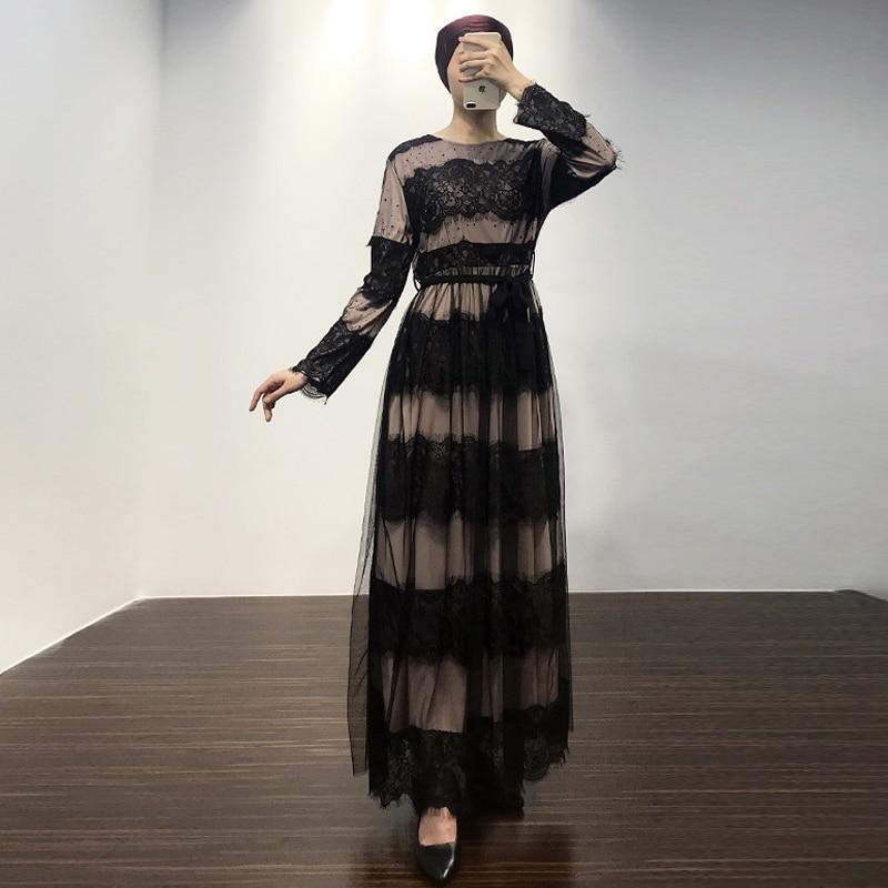 Lace Abaya Turkey Robe Dubai Hijab Muslim Dress Abayas For Women Islam Ramadan Kaftan Caftan Marocain Elbise Islamic Clothing