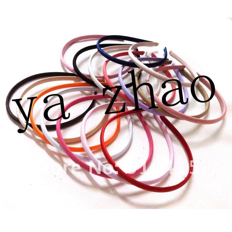 7 мм Атлас покрытые wemon повязки, модные резинки для волос, 16 цветов, 500 шт/партия