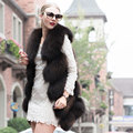 2016 New Real raccoon fur vest coat real fur vest fashion natural color leather fur coat winter coat warm woman