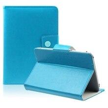 10 Pulgadas Funda Universal Tablet PC de Cristal Cuero de LA PU Soporte (Azul)