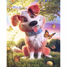 5D Diamond painting,full DIY Diamond Embroidery,cute animal Dog Square&Round Cross Stitch Rhinestones,handcrafts,home decoration