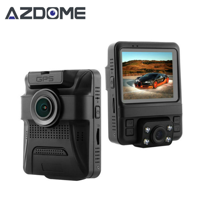 Azdome GS65H Mini Dual Lens Car DVR Camera 1080P Full HD Dash Cam Novatek 96655 Video Recorder G-sensor Night Vision H46 junsun wifi car dvr camera video recorder registrator novatek 96655 imx 322 full hd 1080p dash cam for volkswagen golf 7 2015