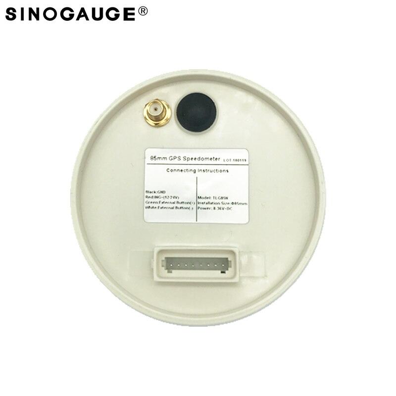 Velocímetro GPS de 85mm, envío gratis, 125MPH, motocicleta, izquierda, derecha, Luz De Carretera, alarma de sobrevelocidad, valor ajustable, recién llegado - 3