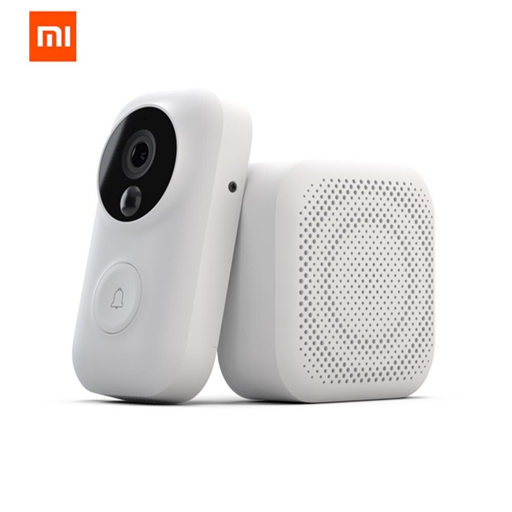 Xiaomi Zero AI уход за кожей лица идентификации 720 P ИК Ночное Видение видео набор дверных звонков обнаружения движения SMS Push домофон Бесплатная об...