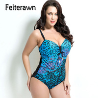 Feiterawn Plus Size One Piece Swimsuit Women Push Up Swimwear Sexy Swimming Suit Bathing Suit Maillot