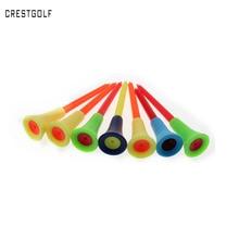 50 pcs/bag Multi Color Plastic Golf Tees 83mm Durable Rubber Cushion Top Golf Tee Golf Accessories