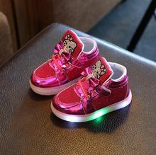 New children light up sneakers kids LED luminous sport shoes boys girls colorful flashing lights luminous