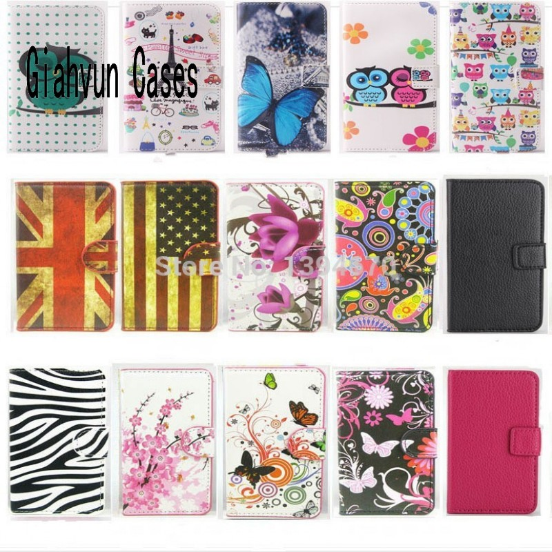 For samsung galaxy core prime g360 flower owl Pu Leather Case With Card Holder Back Stand Cover Phone Cases Bags Retail G630